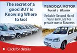 Mendoza Motor S.L Fuente Alamo Murcia