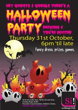 <span style='color:#780948'>ARCHIVED</span> - 31st October, Halloween party at Si! Bar, La Manga Club