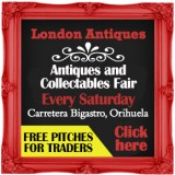 London Antiques showroom, antiques and collectables fairs Orihuela