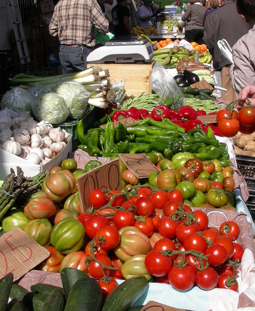 Weekly market in Guardamar del Segura  on Wednesday