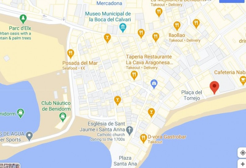 Benidorm Town Hall gains jurisdiction over 320 square metres of seafront land