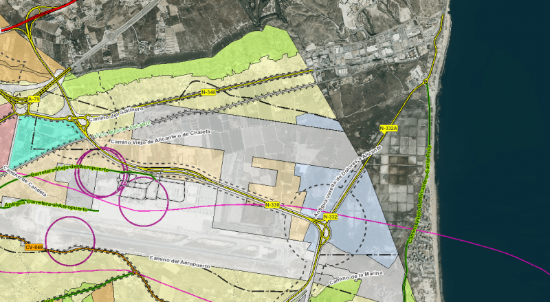 N-332 cut off from May 3 for roadworks on the Urbanova/Alicante-Elche airport turn off for two months