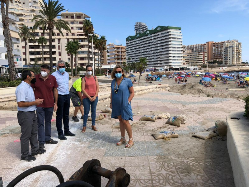 <span style='color:#780948'>ARCHIVED</span> - Remodelling of storm damaged promenade in Calpe begins