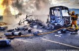Exploding butane gas lorry causes fire at Aspe vineyard